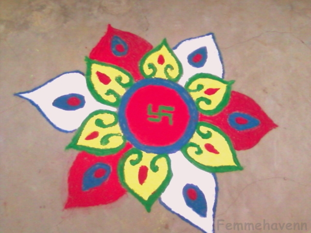 Simple Rangoli Designs With Dots For Home