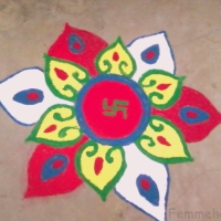 Rangoli on the occasion of Diwali