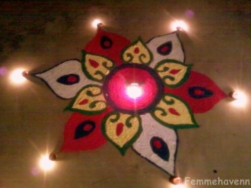 Illuminated Rangoli