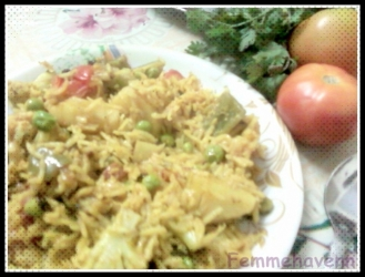 Vegetables Dum Biryan Pulao