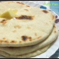Recipe for Puffy Pan Naan (All Purpose flour flat bread)