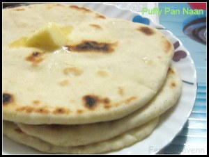 Puffy Pan Naan (All Purpose flour flat bread)