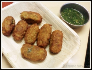Spring onions and Potato fritters
