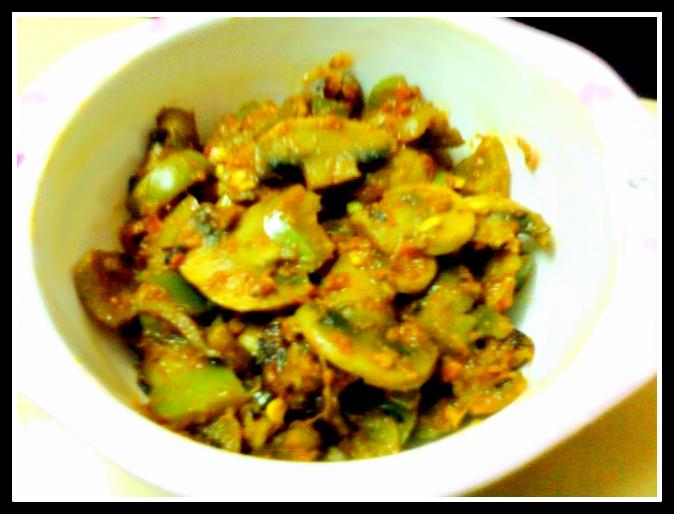 Kadhai Mushroom Masala Curry