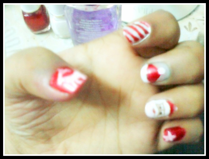 Christmas theme Nail Art