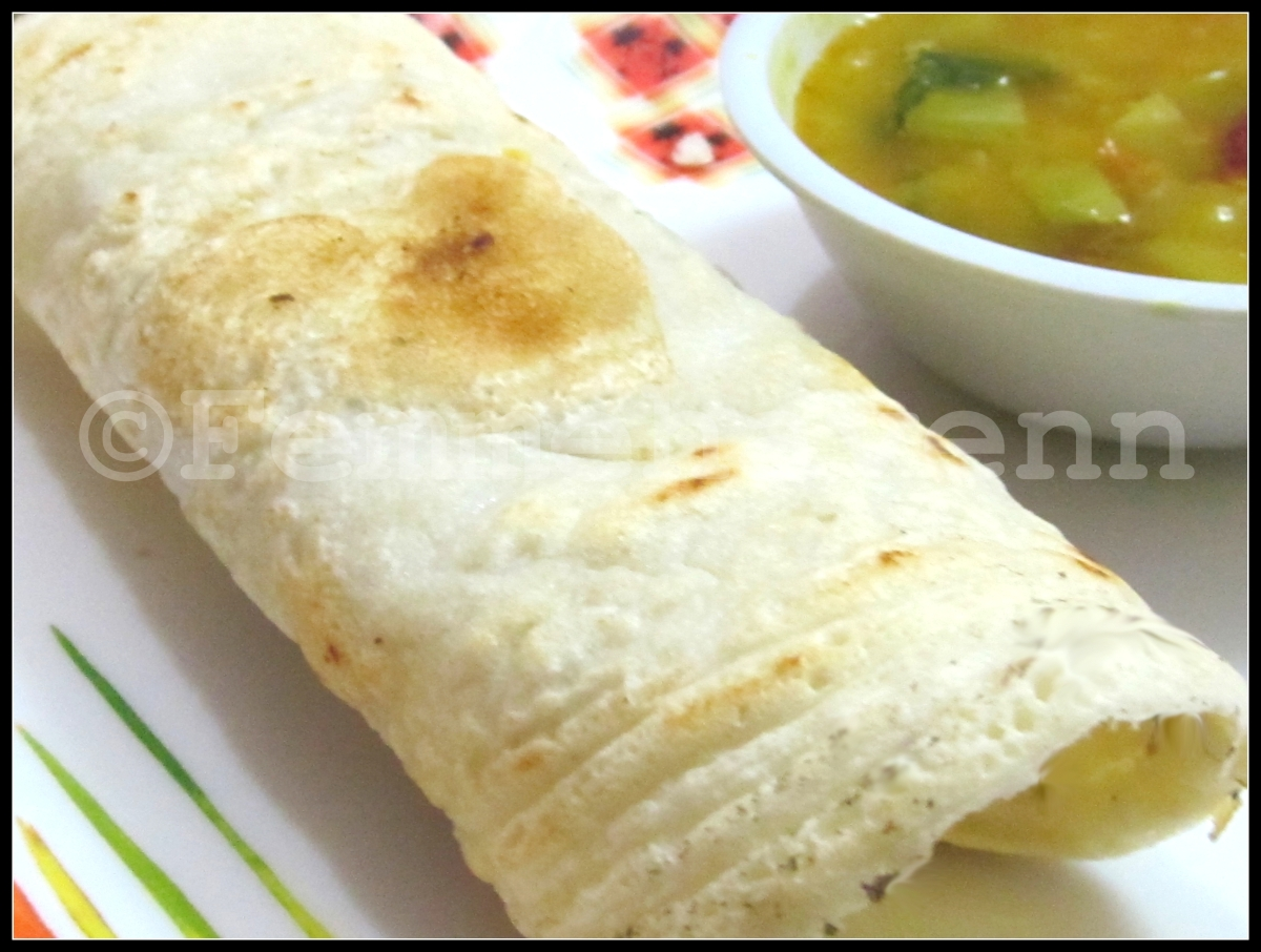 Plain Paper Dosa and Masala Dosa