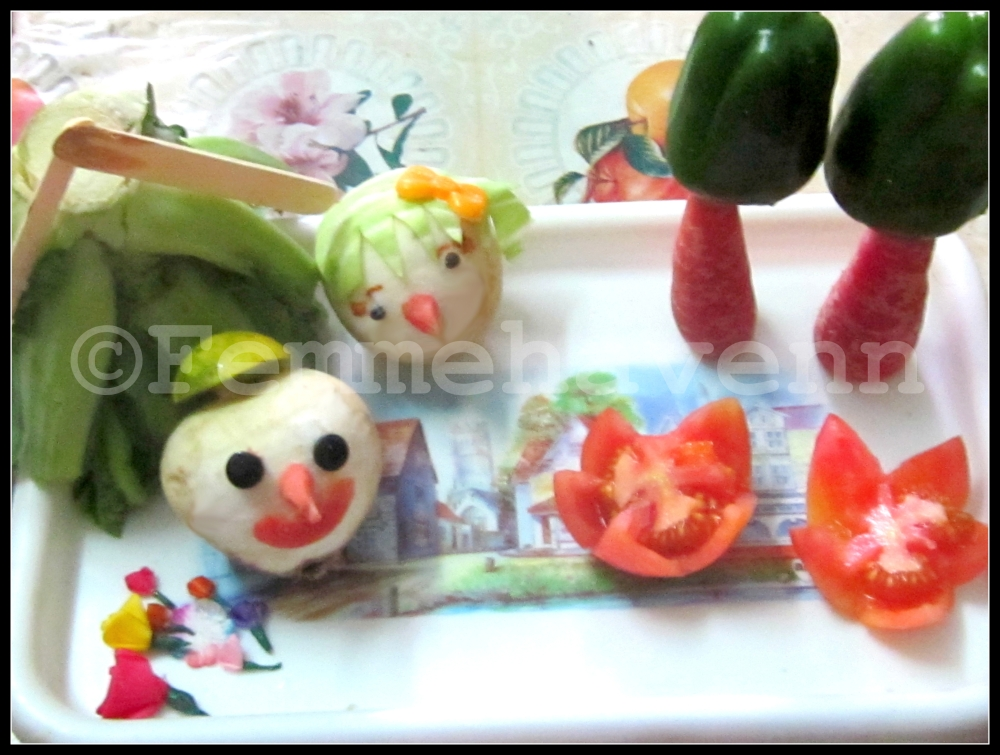 Vista with Veggies (Food Art)