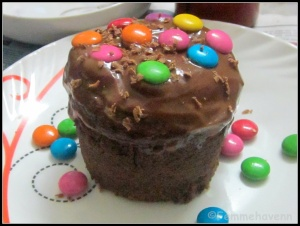Steamed Mini Chocolate Cake (no-bake)