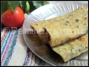 Palak-Paratha (Spinach Flat Breads)