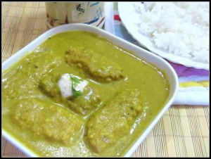 Karayal (Fried Lentil Chunks in Spicy Lentil Gravy)