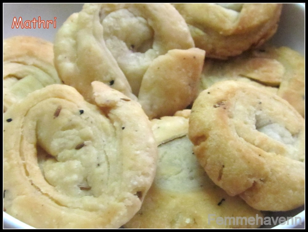 Mathri (Crunchy flaky salted biscuits)