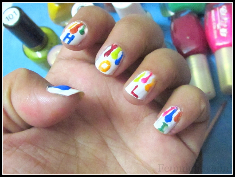 Holi Nail-art
