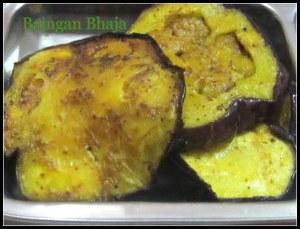 Baingan Bhaja (Eggplant/Brinjal fry with a twist)