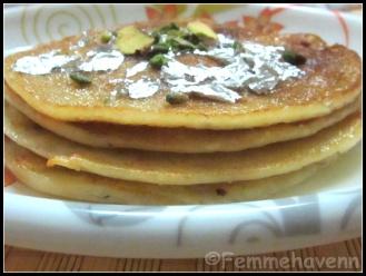 Maalpua (North Indian Pancakes soaked in sugar syrup)
