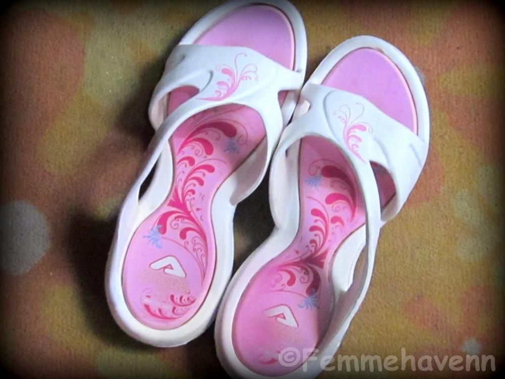 Pink-White EVA Slip-ons