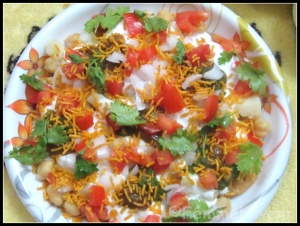 Papdi-Chaat [Recipe of Papdi (All Purpose flour Crispies) and Papdi-Chaat]