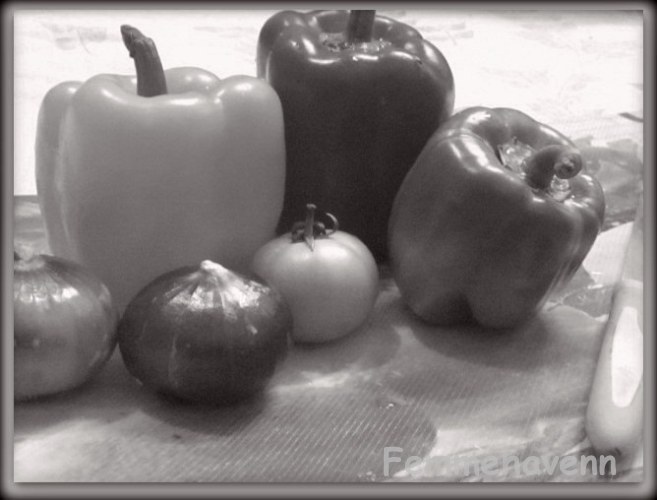 B&W Bell Peppers