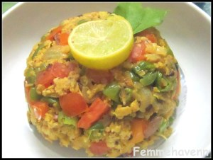 Oats Upma (with Vegetables)