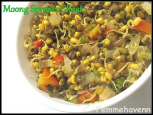 Moong sprouts Chaat/ Mung bean sprout Chaat