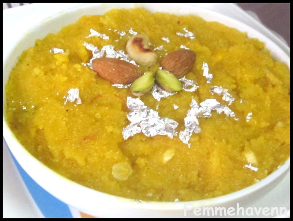 Mango Kesari or Mango Kesari Halwa or Mango Sheera