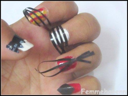 Femmehavenn: 6 Different Trendy Tape Nail-Arts