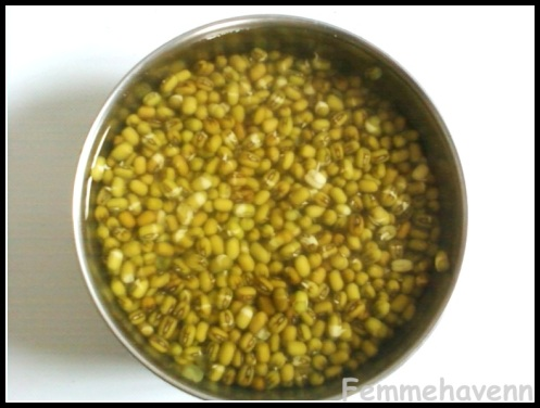 how to cook mung beans without soaking