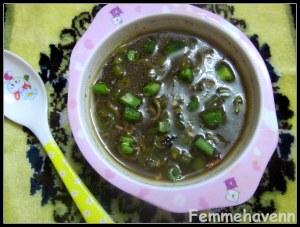Hot and Sour Capsicum-beans Soup