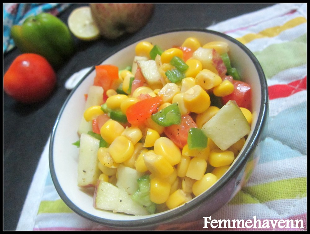 Colorful Corn Salad- Quick & Easy