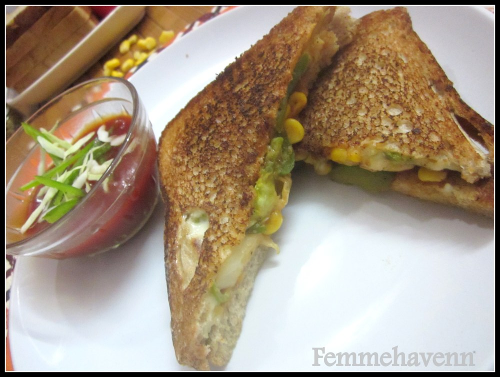 Veggies-Corn Cheese Sandwich