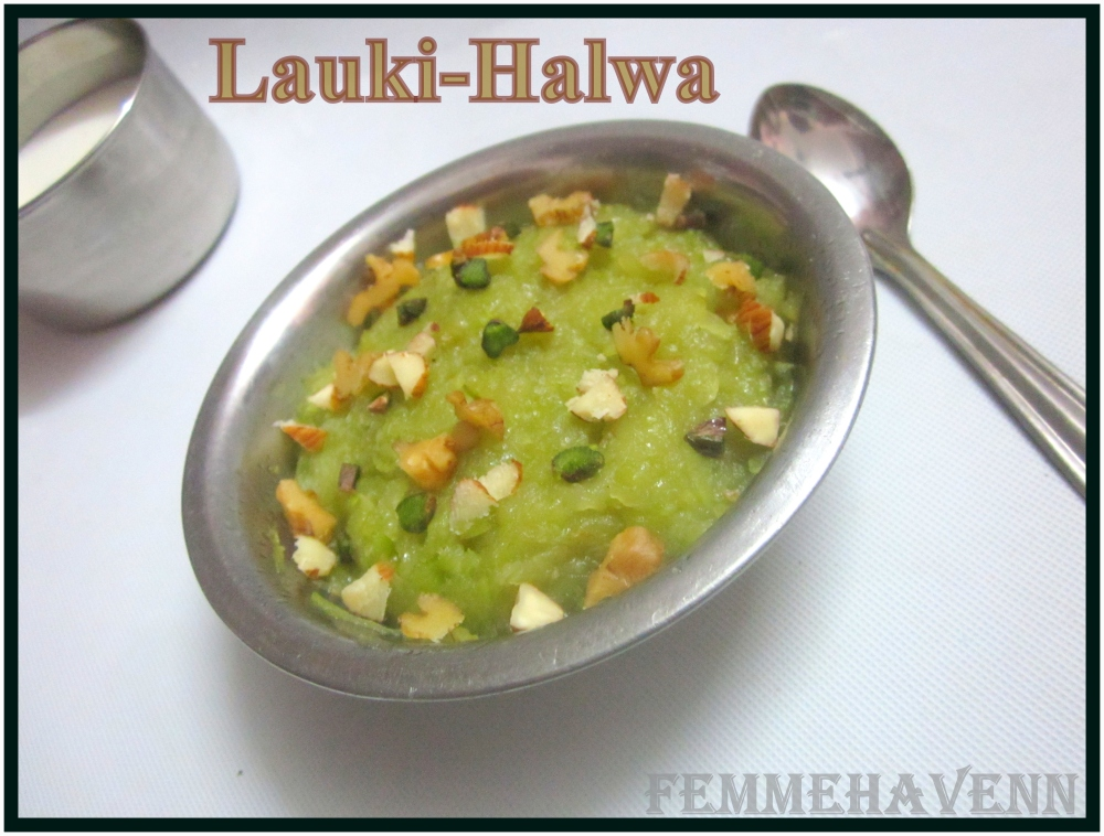 Lauki-Halwa/ Bottle-Gourd Pudding (Three Ingredients Recipe)