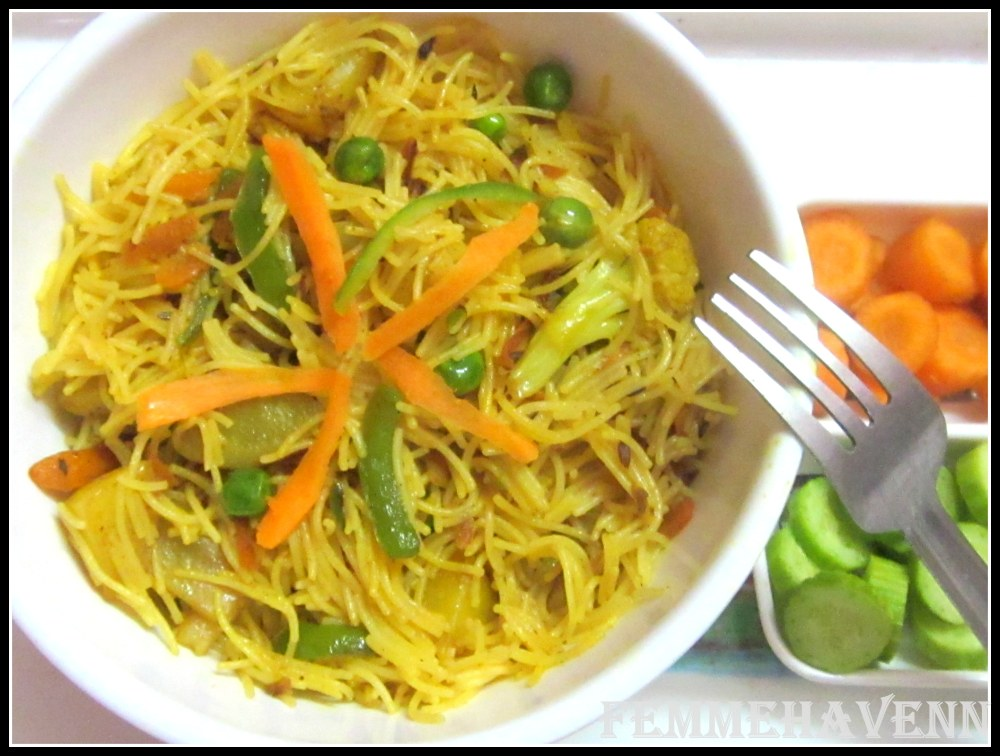 Mixed Vegetables Vermicelli Pulao