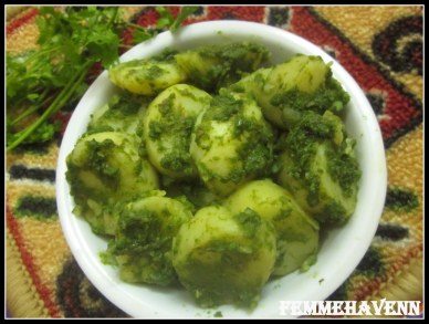Hariyali Aloo Chaat (Dhaniya Aloo)