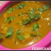Mushroom Matar Makhani (Mushroom-Peas Butter Masala)