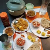 Dinner Scene- Eggs' dishes in menu